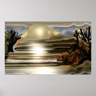 Sun Rise On the Desert Southwestern Abstract Art Poster