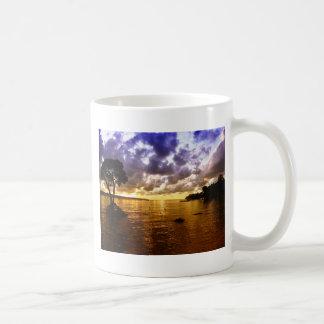 Sun rise on the sea mugs
