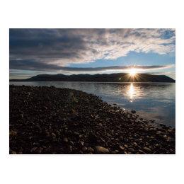 Sun rise over the Hudson Postcard