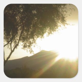 Sun Rise Square Sticker