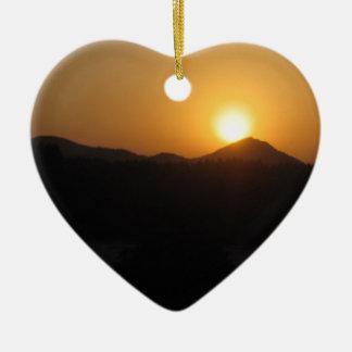 sun rise sun set ceramic ornament