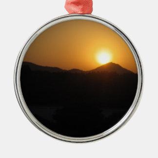 sun rise sun set metal ornament