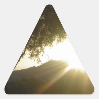 Sun Rise Triangle Sticker