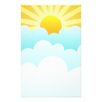 Sun Rising Above The Clouds Stationery