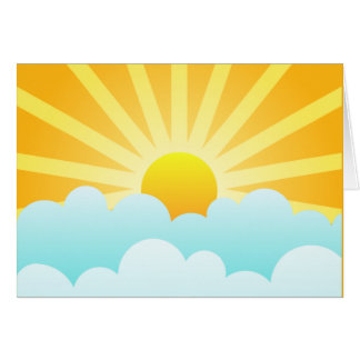 Sun Rising Over Clouds Card