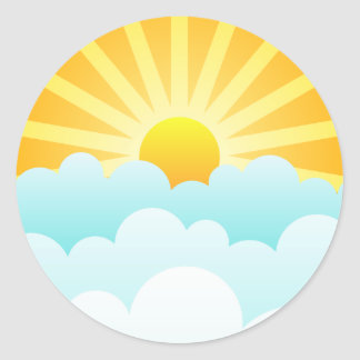 Sun Rising Over Clouds Stickers