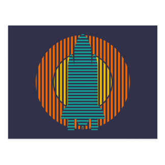 sun rocket stripes postcard