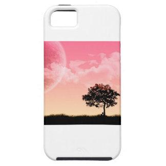 Sun rosado poético iPhone 5 fundas