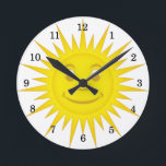 "Sun Round Clock<br><div class=""desc"">Smiling Sun</div>"