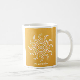 Sun Salutation Classic White Coffee Mug