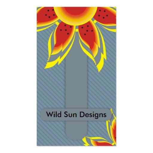 Sun salvaje diseña tarjetas de visita