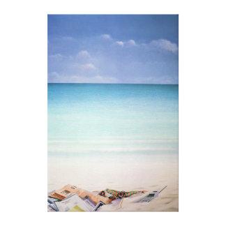 Sun Sand and Money I Canvas Print
