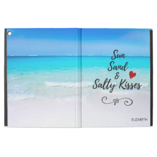 "Sun Sand and Salty Kisses Tropical Beach iPad Pro 12.9"" Case"