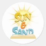 Sun & Sand Classic Round Sticker
