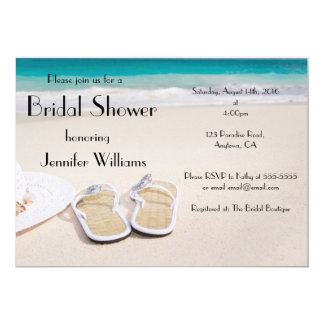 Sun & Sand Destination Bridal Shower Invitations