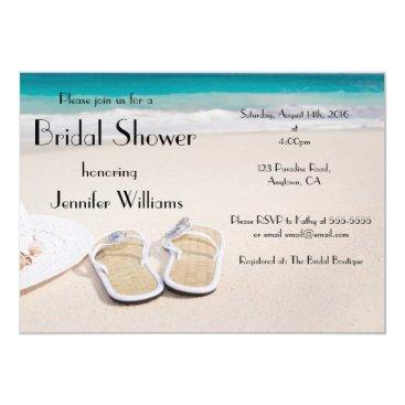 Beanhamster Sun & Sand Destination Bridal Shower Invitations