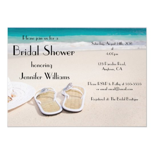 Sun Sand Destination Bridal Shower Invitations
