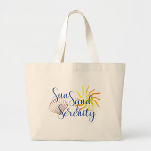 Sun Sand Serenity Large Beach Bag