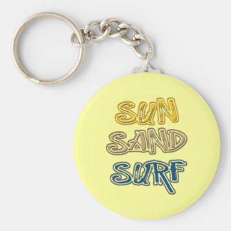 SUN, SAND, SURF KEYCHAIN