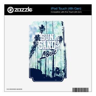 Sun, Sand, Surf, Love Beach Life artwork. Decal For iPod Touch 4G