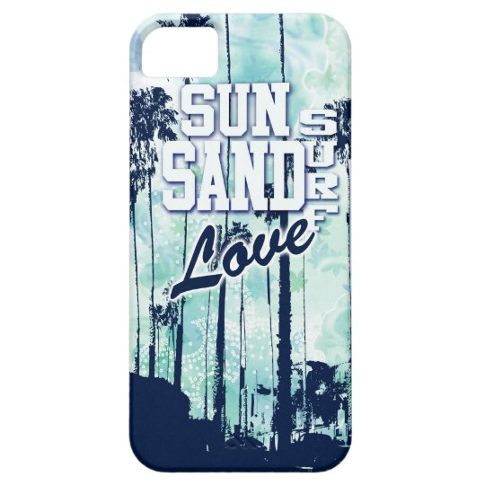 Sun, Sand, Surf, Love Beach Life artwork. iPhone SE/5/5s Case