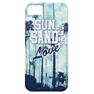 Sun, sand surf, love graphic art. iPhone 5 cases