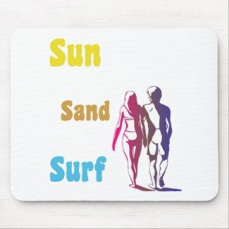 Sun, Sand, Surf Mouse Pad mousepad