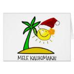 Sun Santa - Mele Kalikimaka Greeting Card