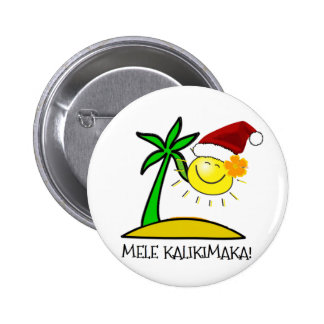 Sun Santa - Mele Kalikimaka Pins