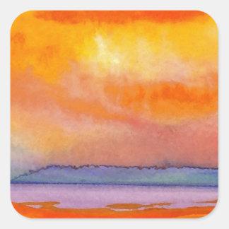 Sun Scape - CricketDiane Ocean Art Products Square Sticker
