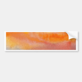 Sun Scape - productos del arte del océano de Crick Pegatina De Parachoque