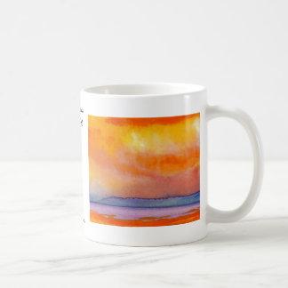 Sun Scape - productos del arte del océano de Crick Tazas De Café