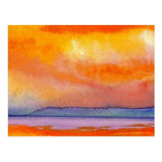 Sun Scape - productos del arte del océano de Postal
