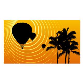 sun scene ballooning business card