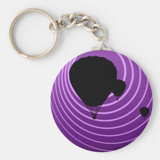 sun scene ballooning keychain