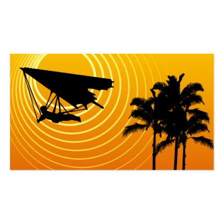 Cool Yellow Hang Glider Scenic Abstract Sun Hang Gliding Business Cards