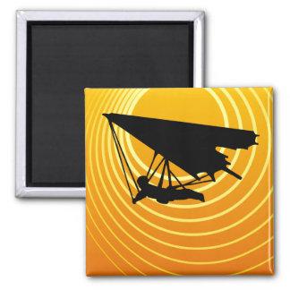 sun scene hang gliding magnet