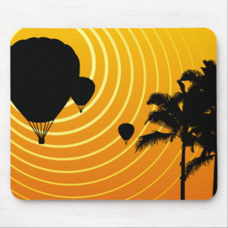 sun scene hot air balloons mouse pad