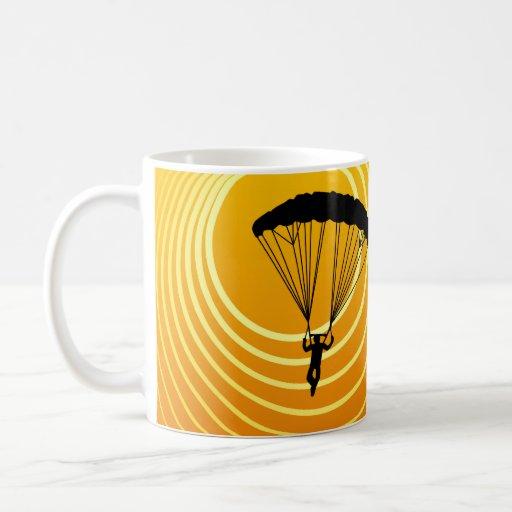 sun scene skydiver mug