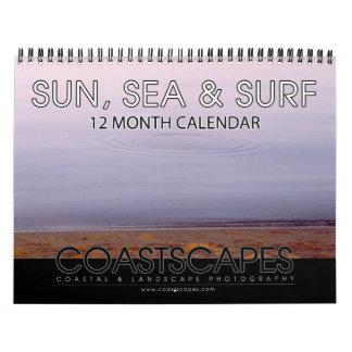 Sun, Sea and Surf 12 Month Calendar