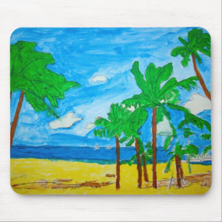 Sun, Sea, Sand and Palm Trees Mouse  Pad Mouse Pad