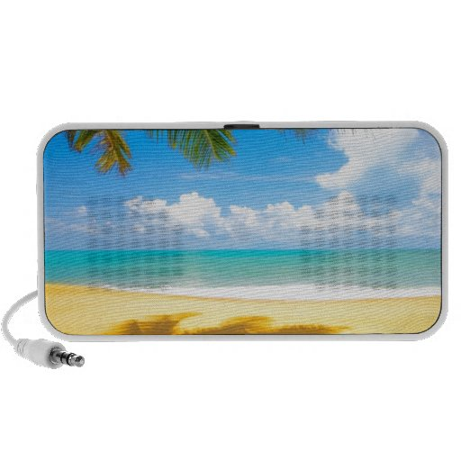 sun sea sand palm tree paradise beach laptop speaker
