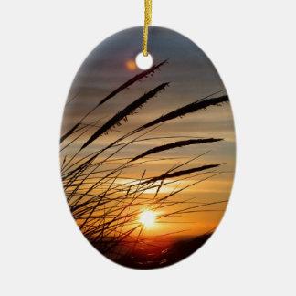 Sun Set Ceramic Ornament