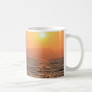 sun set in the Galilee sea Coffee Mug