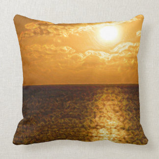Sun Set on Grand Cayman Pillow