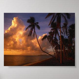 sun set on the beach print