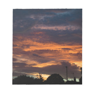 Sun set over Yorkshire Notepad