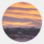 sun set sticker