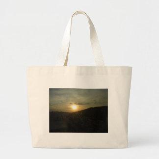 sun set sun rise large tote bag