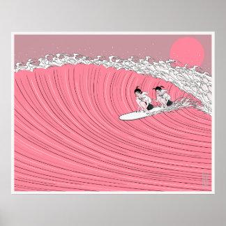 Sun set surf poster